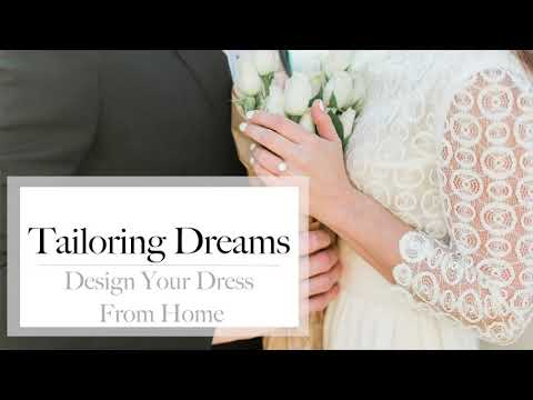 Design Your Wedding Dress from Home