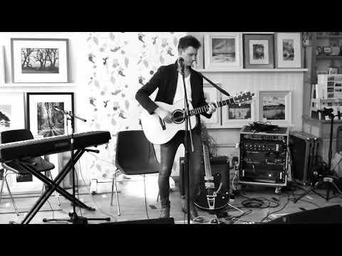 "Mark W Georgsson, Scottish Singer-songwriter Playing ""Break Free"" At Braemar Gallery, July 2017"