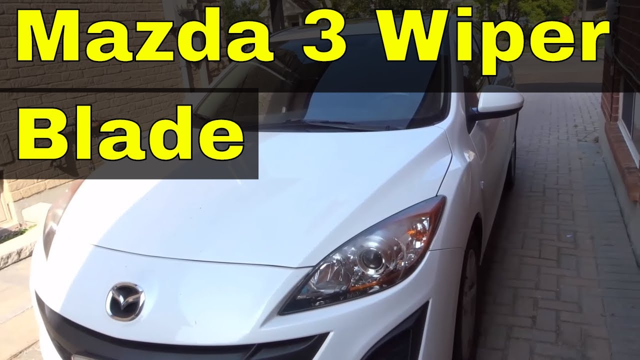 How To Change Wiper Blade On A Mazda 3 (2010)