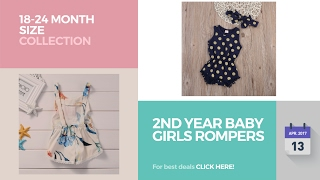 2nd Year Baby Girls Rompers 18-24 Month Size Collection