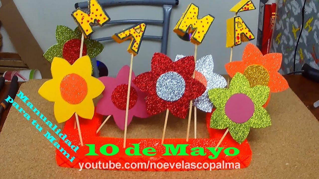Manualidad Para El Dia De La Mama 10 De Mayo Muy Lindo Y Facil De Hacer