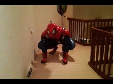 Life Size Spider-Man Balloon Vs Minimate Sized Venom - YouTube