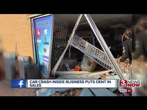 Car crash inside South Omaha business puts dent in sales