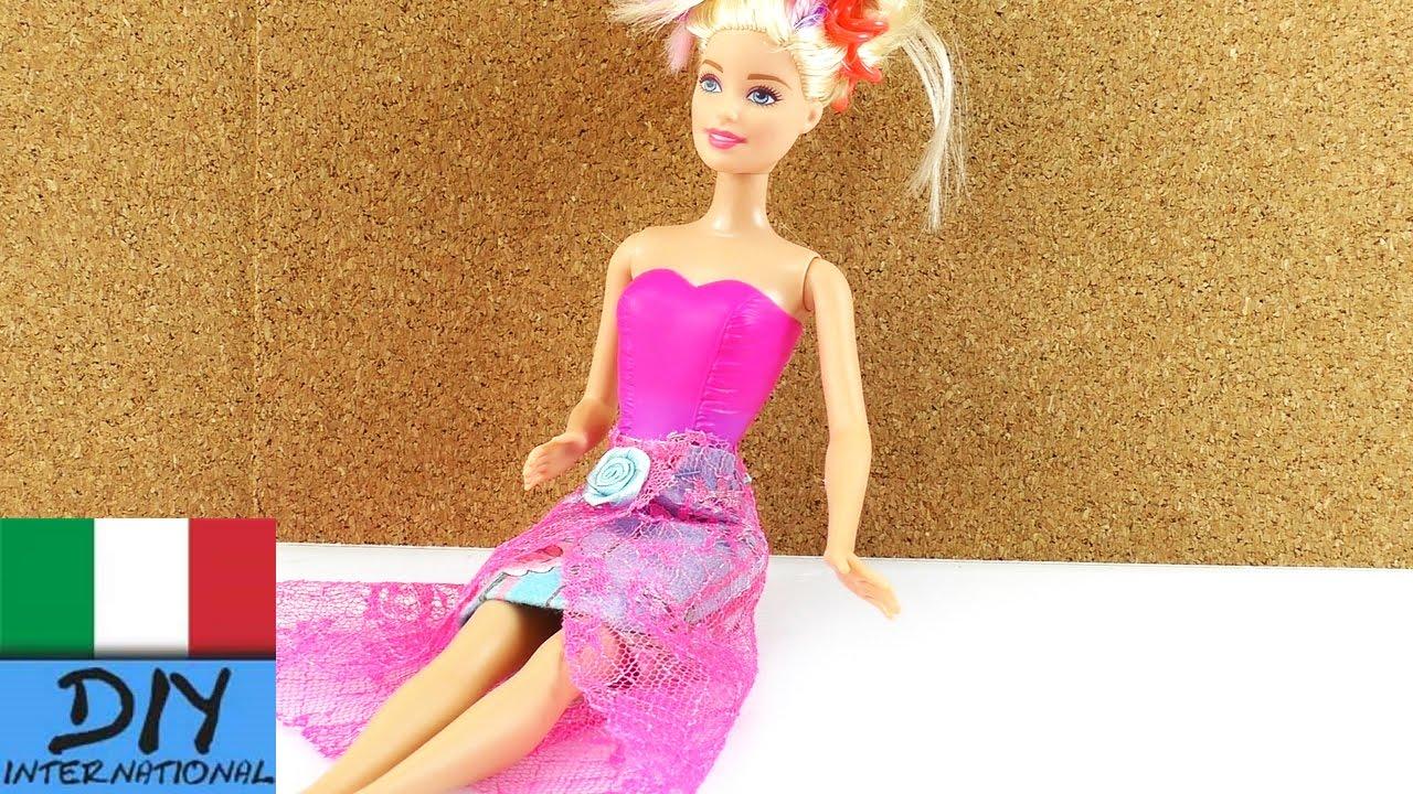Gonna per Barbie fai da te - DIY vestiti per bambole - YouTube 579825b4031