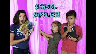 HELLO NEIGHBOR in REAL LIFE with SCHOOL SUPPLIES! WHO snuck into our house?!
