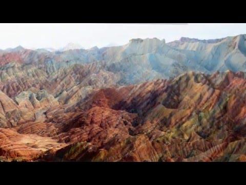 Rocks Zhangye  Danxia National Geological Park China Travel Video