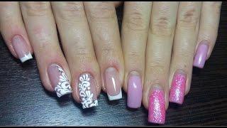 Свадебный дизайн на ногтях