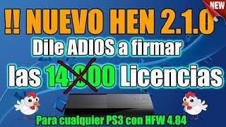 NUEVO HEN 2.1.0 Dile Adiós a FIRMAR LICENCIAS de por VIDA!! PS3 con HFW 4.84