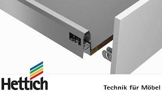 ArciTech Schubkastensystem: Bau, Montage und Verstellung von Schubkasten und Frontauszügen