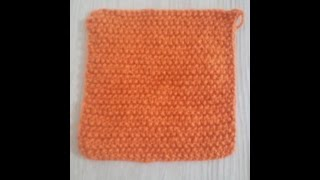 No 6# ścieg ryżowy na drutach - stitch rice on knit