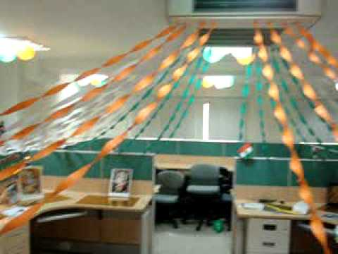 Amazing Cubicle Decoration Themes In Office For Independence Day  Home Decore