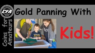Gold Panning with kids YouTube | Learning to gold pan | How to pan gold