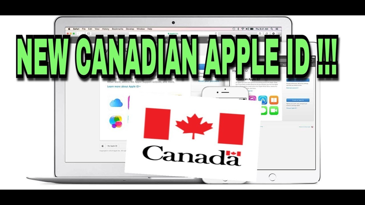 NEW CANADIAN APPLE ID / THIS APPLE ID SHOULD BE UNLOCKED !!!