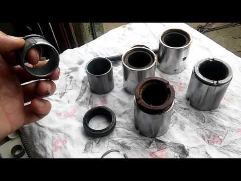 Мотоцикл Минск, Восход, ремонт вилки, пошаговая сборка перьев, часть 3