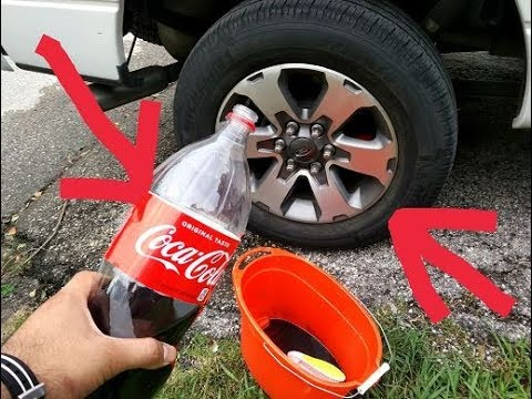 How to clean ANY car tires with COCA COLA (SHOCKING RESULTS!)