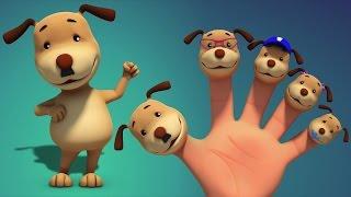 Perros dedo de la familia   Canciones para niños   Finger Family Rhymes   Dogs Finger Family