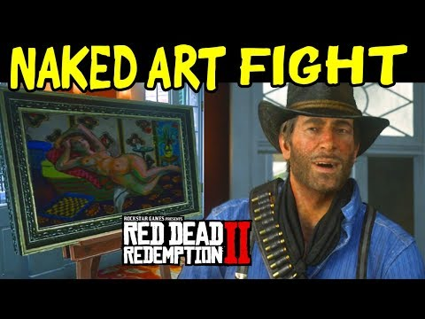 Arthur Gos To A Naked Art Gallery Gets Into A Fist FIGHT - Red Dead Redemption 2