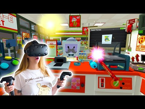 The Best Slush E Mart Store Clerk! Job Simulator   Kunicorn Plays VR