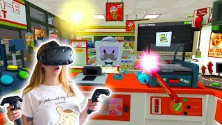 The Best Slush E Mart Store Clerk! Job Simulator | Kunicorn Plays VR