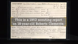 Roberto Clemente's 1952 Scouting Report – Stories from Inside the Hall of Fame