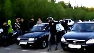 Russian crash. VAZ Priora vs. /Русские аварии. Ваз против приоры.
