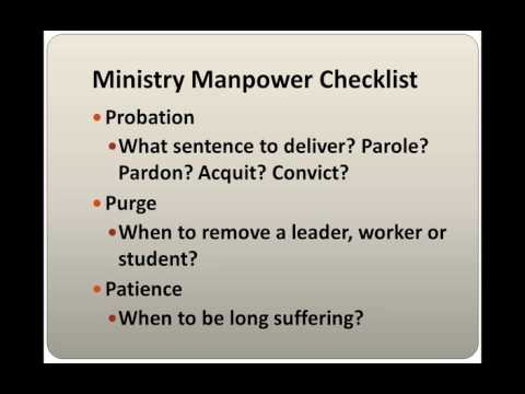 Organizational Checklist: Ministry MANPOWER