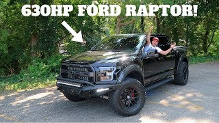 I DROVE A 630 HORSEPOWER 2018 FORD RAPTOR! *WOW IT'S FAST*