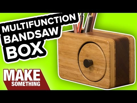 How to Make a Bandsaw Box with Pencil Holder | Easy Woodworking Project