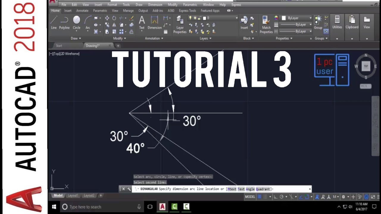 Autocad Drawing Lines With Coordinates : Autocad line command tutorial how to draw a