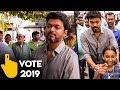 LIVE : ஒரு விரல் புரட்சி வாக்களிக்க வந்த விஜய் | Thalapathy Vijay Vote | Lok Sabha 2019