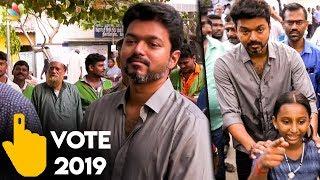 live-thalapathy-vijay-vote-lok-sabha-2019