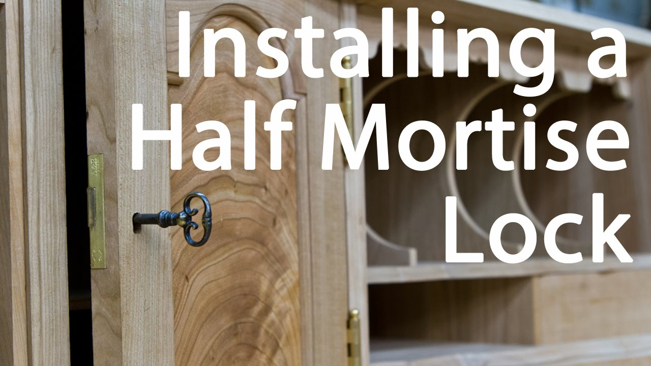 How to Install a Half Mortise Lock - YouTube