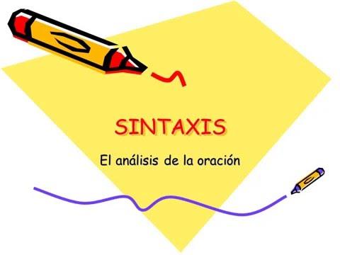 Resultado de imagen de sintaxis