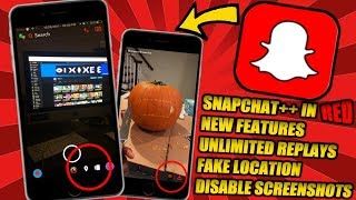 GET SNAPCHAT++ IN RED!!! UNLOCK SECRET FEATURES!! UNLIMITED REPLAYS!! FAKE LOCATION!! DISABLE SCREEN