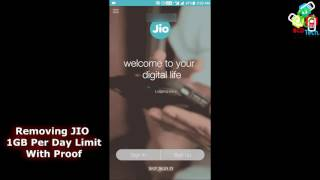How To Remove Jio 1GB Limit And Get 100GB With 100% Proof