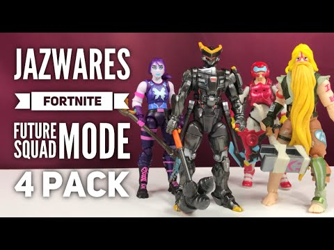 Jazwares Fortnite Future Squad Mode 4 Pack 4'' Action Figure Review