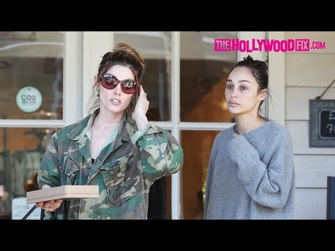Ashley Greene & Cara Santana Step Out Together For Lunch At Le Pain Quotidien On Melrose Avenue