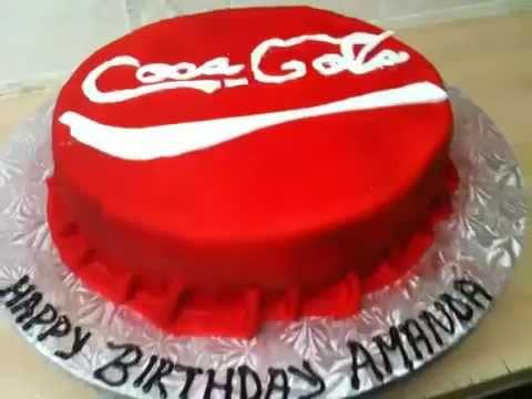 How To Make A Coca Cola Design Cake