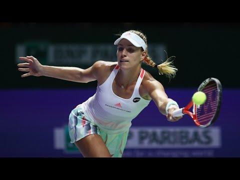 Angelique Kerber vs Agnieszka Radwanska | 2016 WTA Finals Singapore Semifinal Highlights