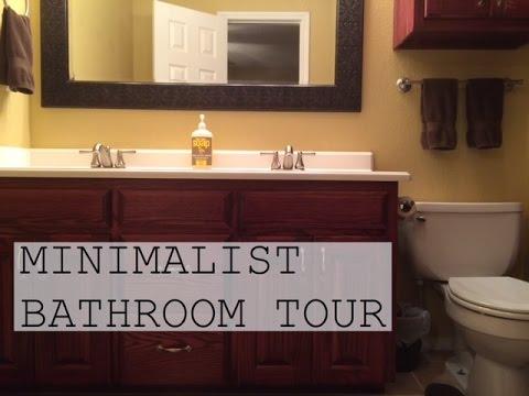 MINIMALIST BATHROOM TOUR