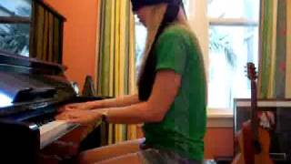 Lara plays Super Mario Sonic Tetris medley blindfolded!