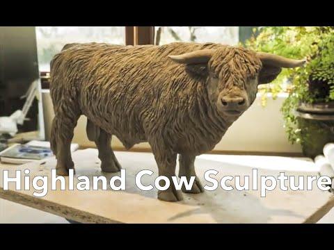 Highland Cow Sculpture