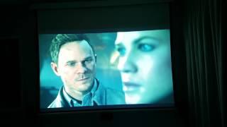 Quantum Break PC Gameplay on projector. 60Fps recording