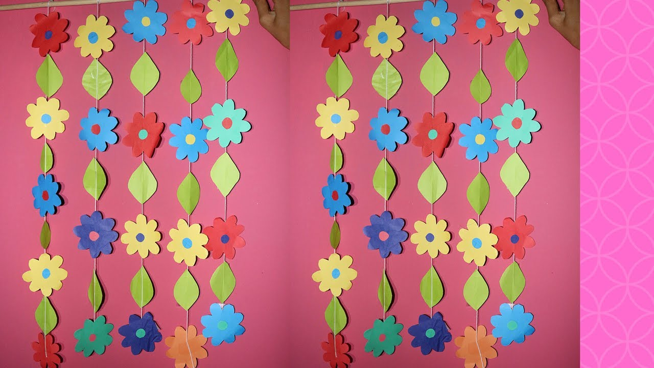 DIY wall hanging Craft Ideas using colour paper | How to ...