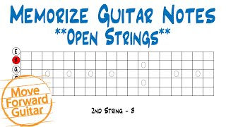 memorize guitar notes - open strings