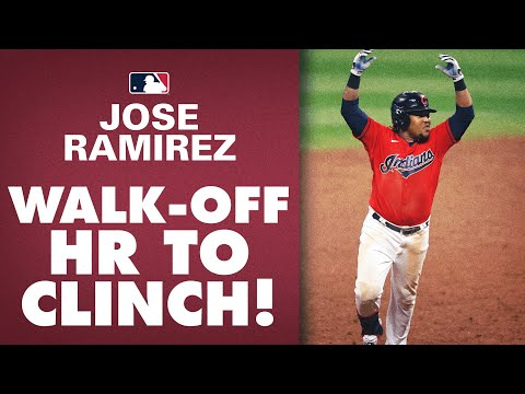 Indians' José Ramírez hits 3-run WALK-OFF HOME RUN to clinch Postseason spot for Indians!