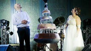 Торт на свадьбе Веры Шаховой