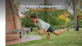 Slackline Kit with Training Line - Complete Slack Line Kit Ideal for Family Outdoor Healthy Fun