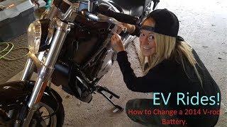 Ev Rides 2014 V Rod Battery Change