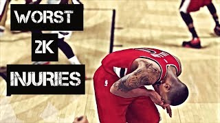 TOP 10 WORST NBA 2K INJURIES OF ALL TIME!